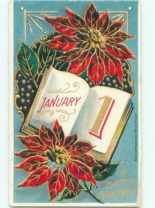 Divided-Back NEW YEAR SCENE Great Postcard AA2078
