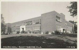 RP: SCOTTSBORO , Alabama , 1940s ; High School