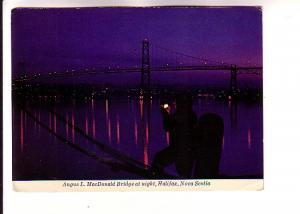 Angus L MacDonald Brdige at Night, Dartmouth, Halifax, Nova Scotia
