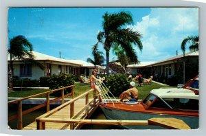 Clearwater Beach FL-Florida, Scott Apartments, Chrome Postcard