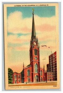 Vintage 1948 Postcard Cathedral of the Assumption R.C. Louisville Kentucky