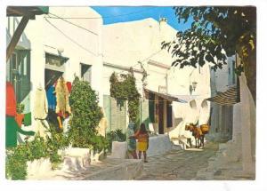 Myconos , Greece , 50-70s : road view