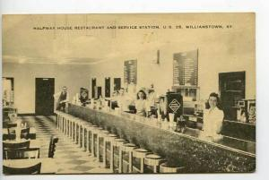 Williamstown KY Orange Crush Lunch Counter Postcard