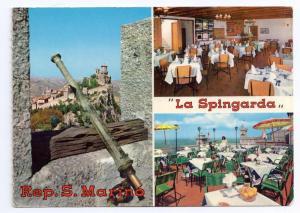 San Marino La Spingarda Restaurant Multiview 4X6 Postcard