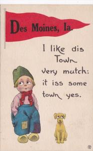 Iowa Des Moines I Like Dis Town Very Mutch Pennant Series