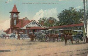 SPARTANBURG , South Carolina , 1900-10s ; Southern Railroad Train Depot