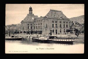 015177 Switzerland LIGHTHOUSE in Neuchafel Poste Ship Vintage