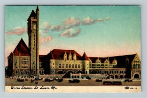 St Louis MO-Missouri, Union Station, Vintage c1910 Postcard