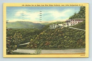 Skyline Inn Blue Ridge Parkway Little Switzerland North Carolina NC Postcard