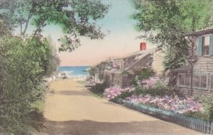 Looking Down Oar Weed Lane Showing The Oldest House In Ogunquit Maine