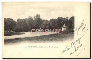 Old Postcard Compiegne Park in Lower Terrace of the