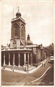 BR80388 all saints churrch and town hall northampton uk