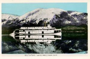 White Pass & Yukon Route - SS Tutshi       *RPPC