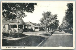 MUNCY PA SOUTH MAIN STREET 1921 ANTIQUE POSTCARD