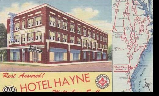 South Carolina Walterboro Hotel Hayne Curteich