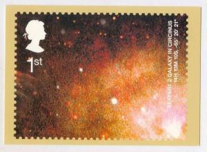 Seyfert 2 Galaxy in Circinus postcard of postage Stamp, UK, 2002