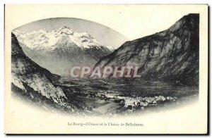 Old Postcard Le Bourg d Oisans and Belledonne