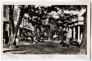 RPPC, Avenida Del Capitolio, Caracus Venezuela
