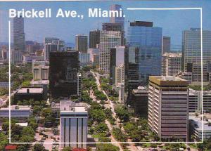Brickell Avenue Looking North Miami Florida