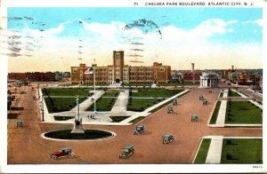 New Jersey Atlantic City Chelsea Park Boulevard 1928 Curteich