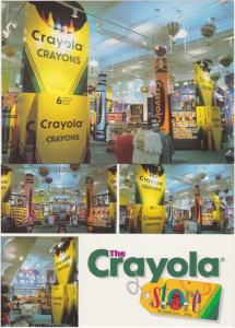 (2 cards) Crayola Store in Easton PA Pennsylvania Most Colorful Store in World