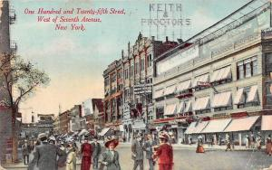 New York, One Houndred and Twenty-fifth Street, West of Seventh Avenue 1913