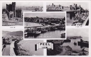 RP:PEEL, 5-view postcard, I.O.M. , UK, 20-30s