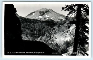 RPPC LASSEN NATIONAL PARK, CA ~  MOUNTAIN VIEW  c1950s Eastman  Postcard