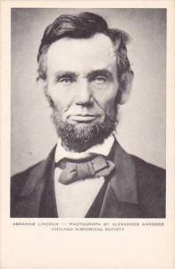 Illinois Chicago Historical Society Abraham Lincoln Photograph By Alexander G...