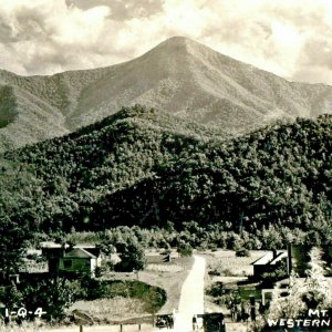 ca 1920 Postcard Historic RPPC Postcard Mt Pisgah North Carolina Farmland Road