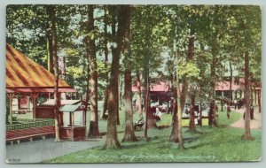 Syracuse New York~Long Branch Park~The Grove: Shelter House~Pavilion~Booths~1908