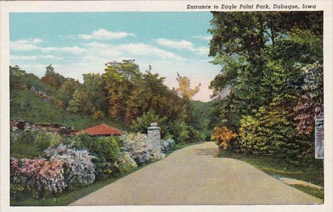 Iowa Dubuque Entrance To Eagle Point Park