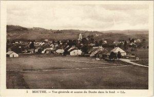 CPA MOUTHE Vue Generale et Source du Doubs dans le Fons (1115595)
