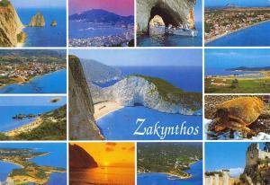 Greece Postcard Zakynthos Multi View J56