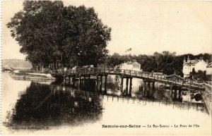 CPA SAMOIS-sur-SEINE - Le Bas-Samois - Le Port de l'Ile (292803)