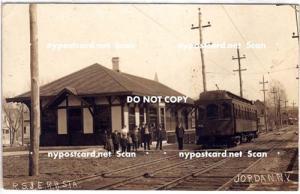 RPPC, R.S. & E. Trolley Depot, Jordan NY