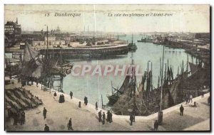 Old Postcard Dunkerque The hold fishermen and I Before Boat Harbor