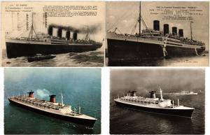 SHIPPING SHIPS SS PARIS STEAMER 70 Vintage Postcards mostly pre - 1970