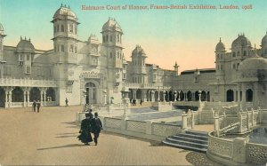 Postcard LONDON Exhibition Entrance Court of Honour 1908 Franco-british expo