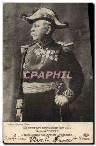 Postcard Former Army General Joffre