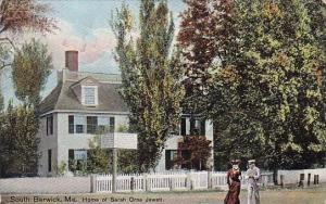 Maine South Berwick Home Of Sarah Orne Jewett 1908