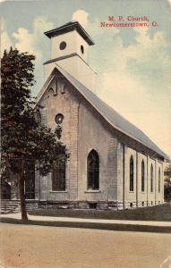 E57/ Newcomerstown Ohio Postcard 1915 M.P. Church Building