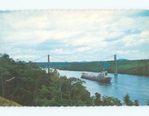 Unused Pre-1980 BRIDGE SCENE Bucksport - Near Bangor Maine ME d3421