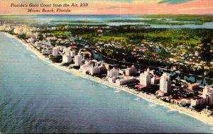 Florida Miami Beach Aerial View Of Florida's Gold Coast