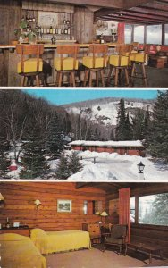 STE-MARGUERITE STATION, Quebec, Canada, 1940-60s; Snowy Owl Motor Lodge, 3-Views
