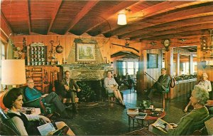 Big Lynn Lodge Lobby Little Switzerland North Carolina NC pm 1979 Postcard