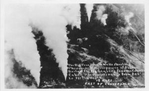 1930s Sonoma County California Cloverdale Geysers RPPC real photo 8863