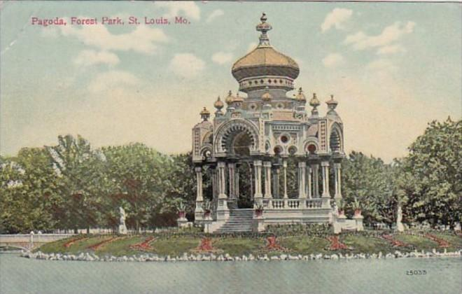 Missouri St Louis The Pagoda In Forest Park 1912