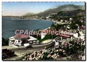 Postcard Moderne Menton Vue Generale Jack De La Frontiere