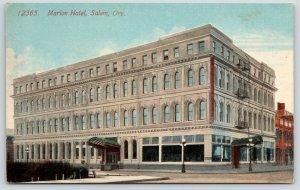 Salem Oregon~Porte Cocheres~Four-Story Marion Hotel~Fire Escapes~c1910 Acmegraph